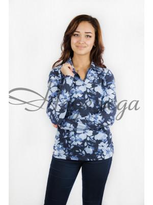 Блуза женская М-16 (голубой) р.44-62
