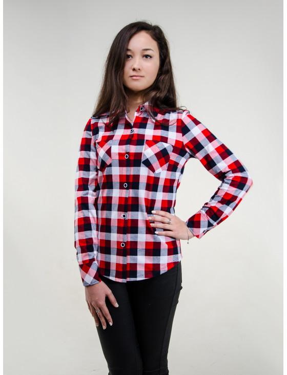 Блуза женская М-135 (красный) р.42-62