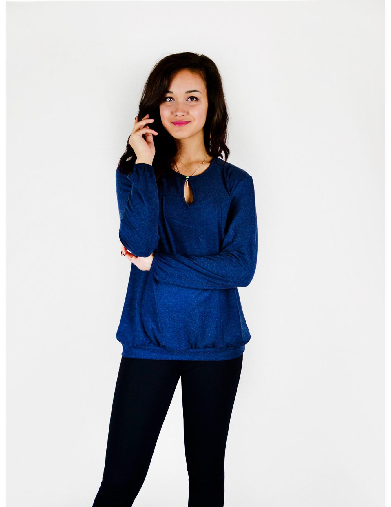Блуза женская М-137 (синий) р.44-62