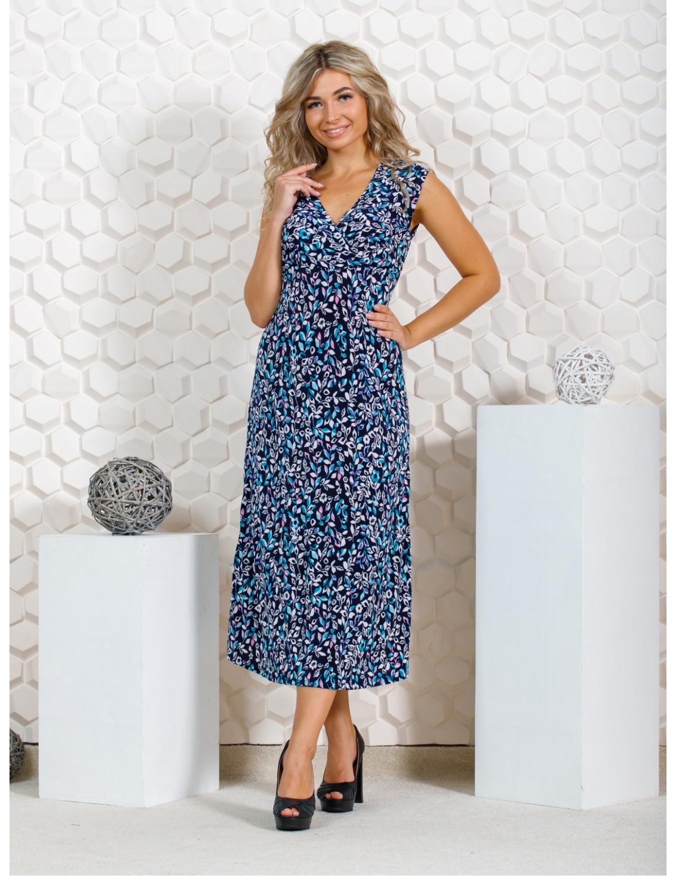 Платье женское М-35 (розовый с голубым) р.46-62
