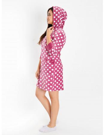 Халат женский М-104 (розовый) р.42-56