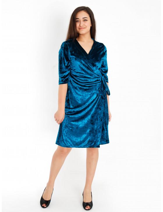 Халат женский М-163 (синий) р.44-58