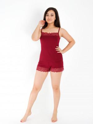 Пижама женская М-166 (красный) р.44-54