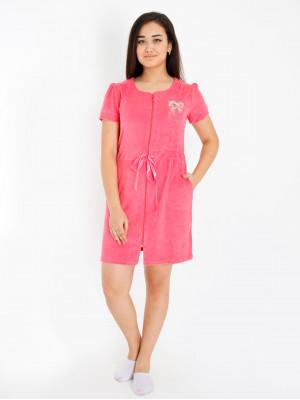 Халат женский М-73 (розовый) р.42-56