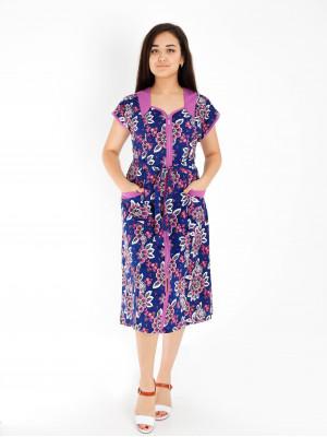 Халат женский М-84К (фиолетовый) р.46-72