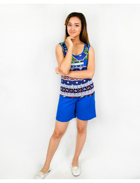 Костюм женский М-112 (ярко-синий) р.44-60