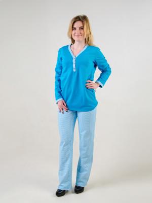 Пижама женская М-48 (голубой) р.44-54
