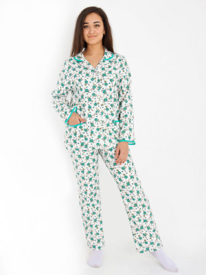 Пижама женская М-110 (зеленый) р.46-62