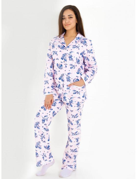 Пижама женская М-185 (розовый с синим) р.46-62
