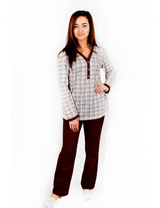 Пижама женская М-48 (коричневый) р.44-62