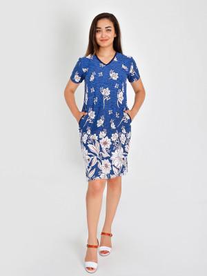 Платье женское М-169 (синий) р.44-62