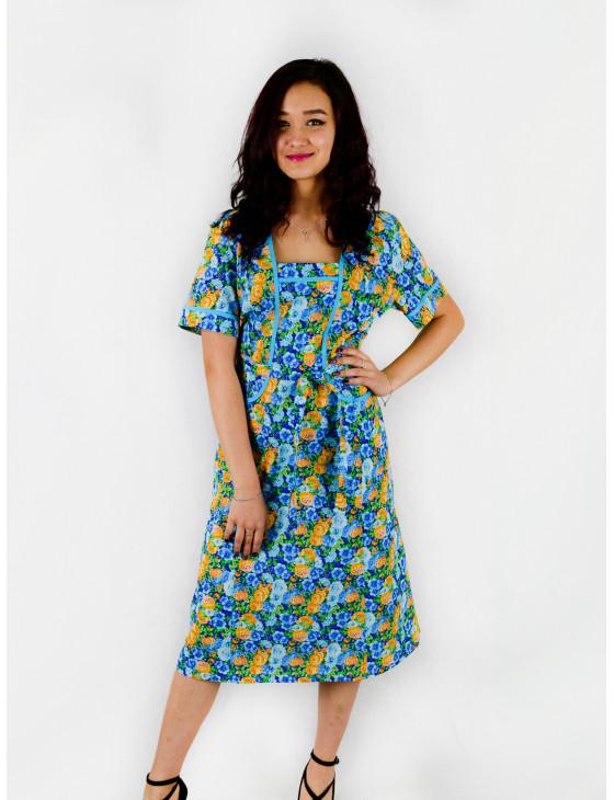 Платье женское М-32 (голубой) р.46-70