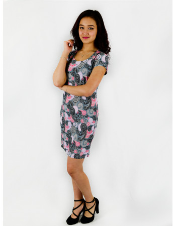 Платье женское М-125 (серый) р.44-58