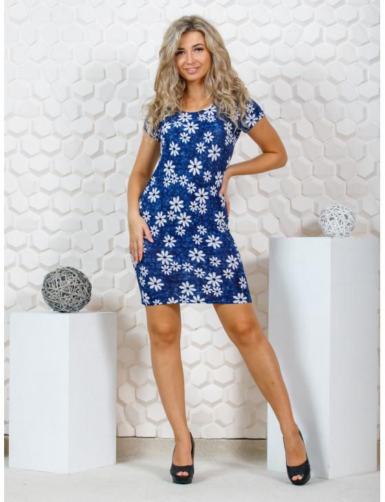 Платье женское М-125 (синий) р.44-58