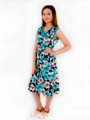 Платье женское М-121 (ментол) р.48-64