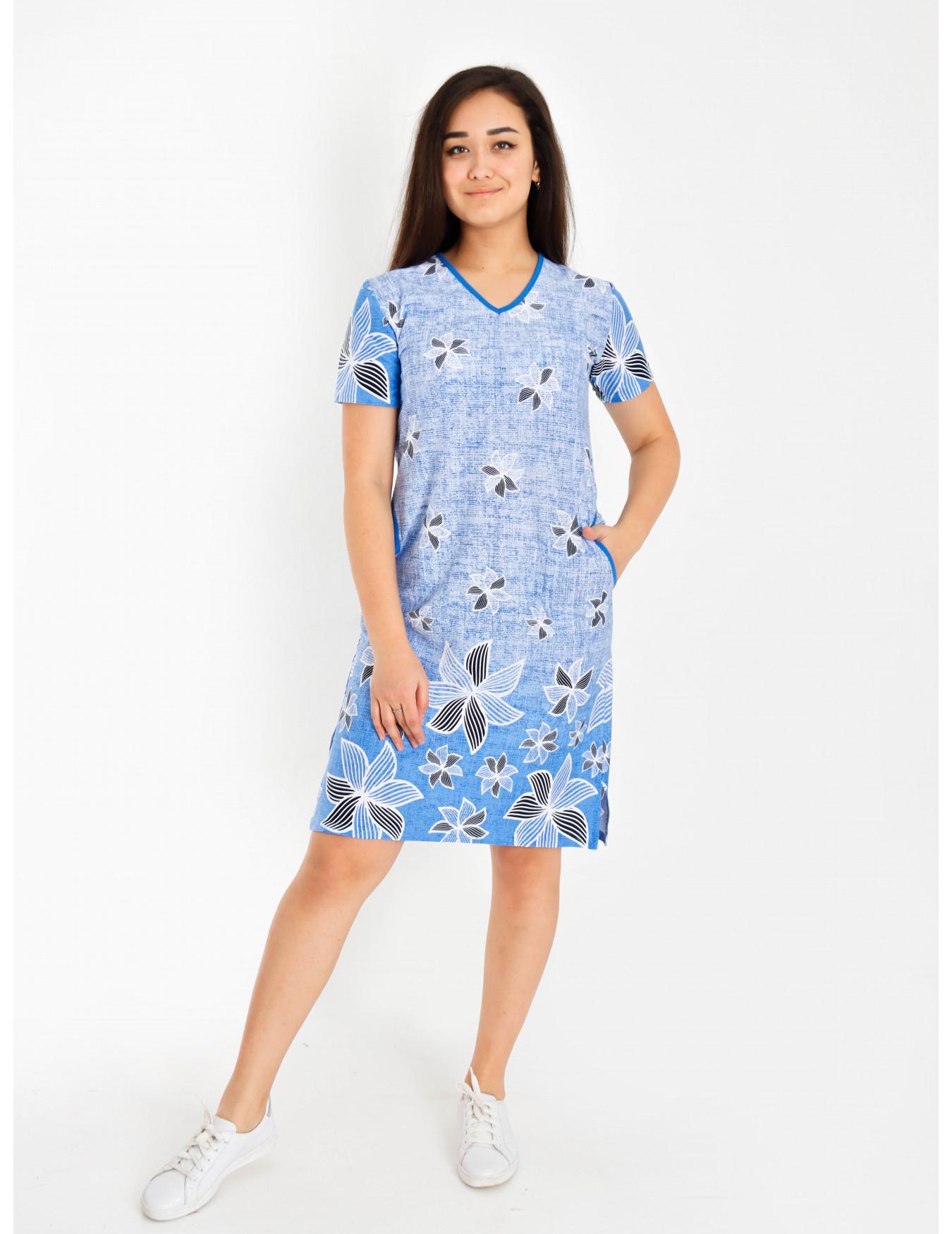 Платье женское М-169 (голубой) р.44-62