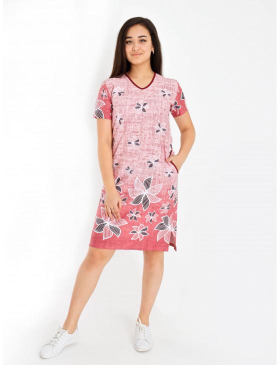 Платье женское М-169 (розовый) р.44-62