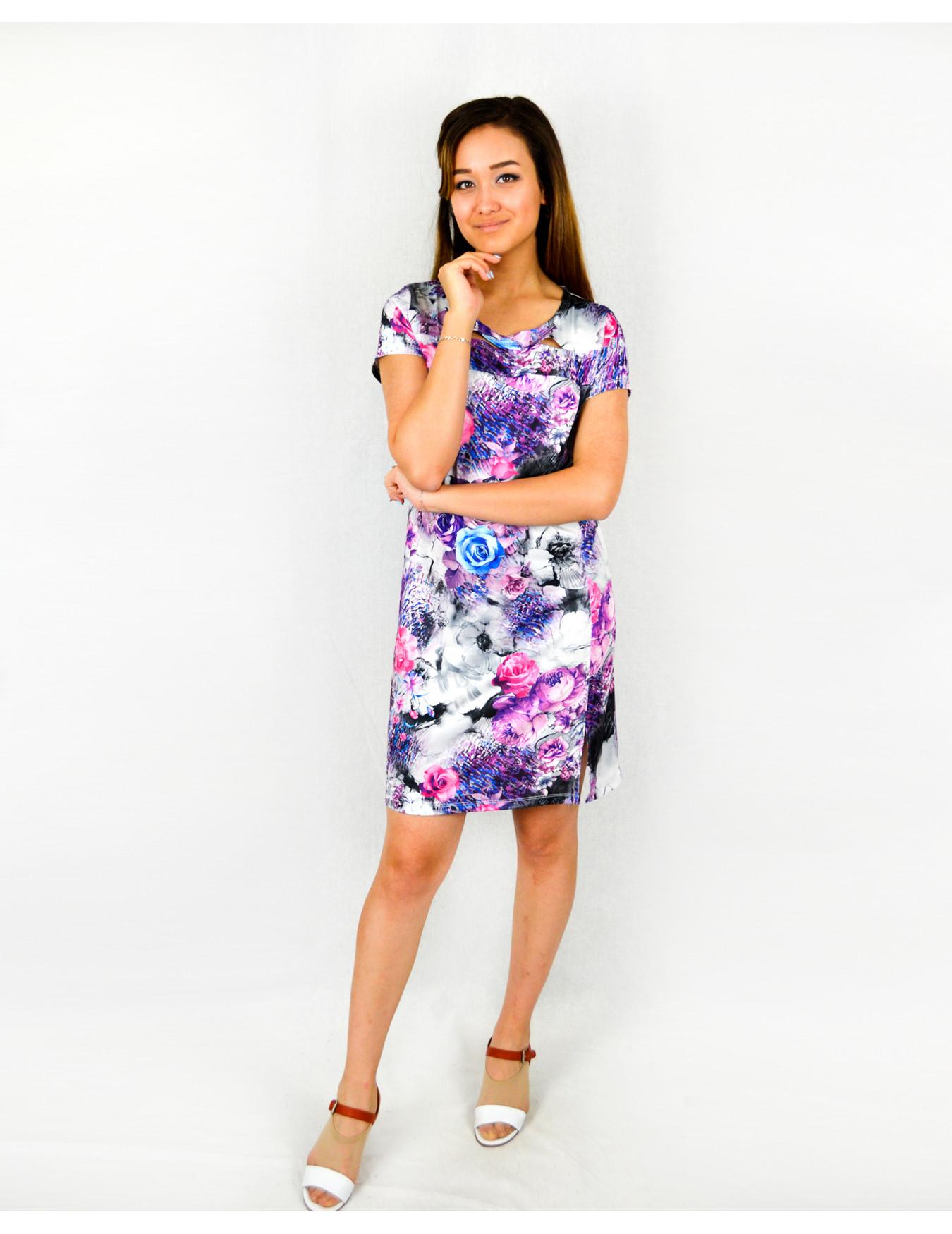 Платье женское М-18в (фиолетовый) р.44-58