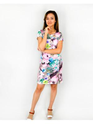 Платье женское М-18в (розовый) р.44-58