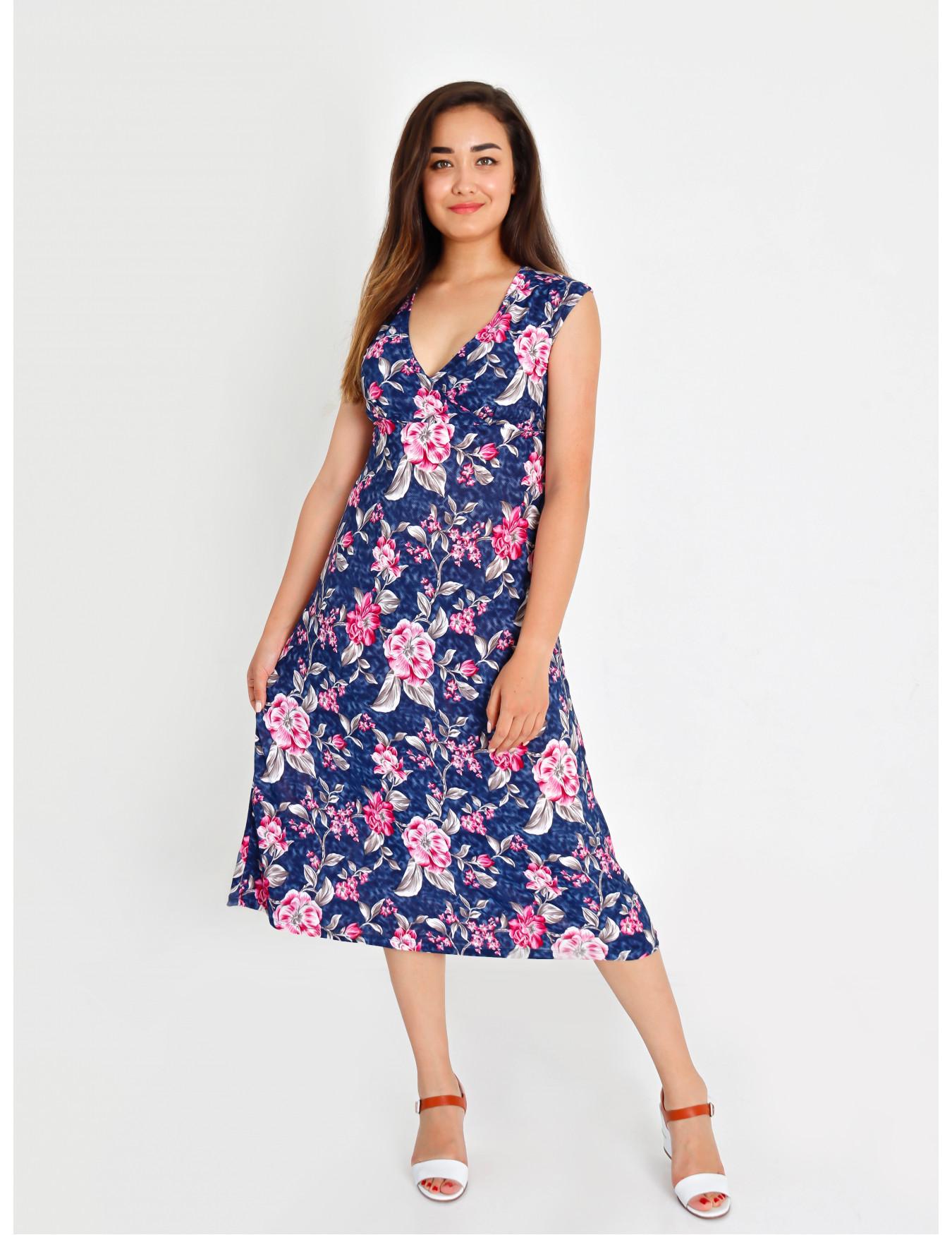 Платье женское М-35 (красно - синим) р.46-62