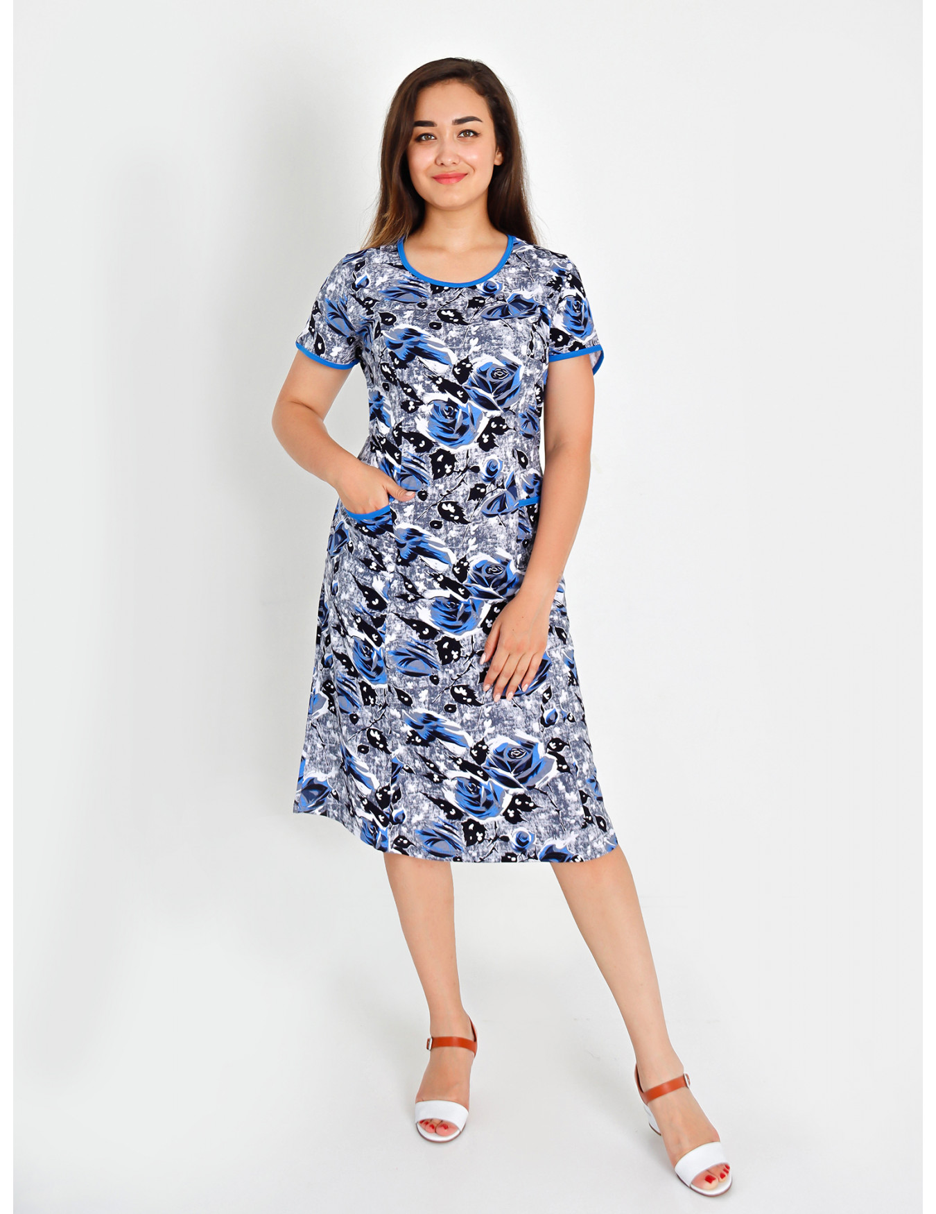Платье женское М-93 (серо-голубой) р.46-64