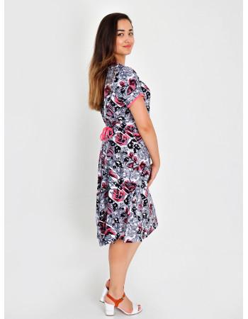 Платье женское М-93 (серо-розовый) р.46-64