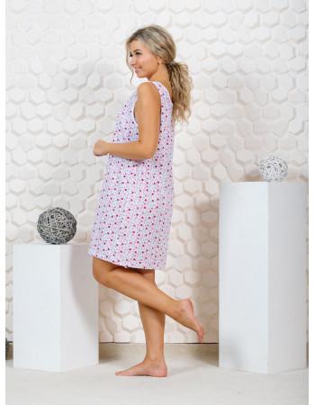 Майка женская удлиненная М-151 (розовый) р.48-62