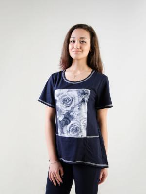 Туника женская М-144 (синий) р.44-62